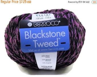 ON SALE New Berroco Blackstone Tweed Wool Blend Yarn/1 Ball/Concord Grape/ 2684