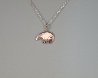 Sun Bear Pendant, Lg, Half body w/ brow & heart