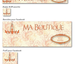 """Banner and avatar """"Old Fashion"""" shop and Facebook"""