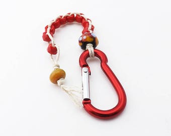 Clip On Golf Counter Beads with Mini Carabiner Belt Loop Clasp, Red Beads Golf Stroke Counter, Golf Swing Counter Beads, Gift for Golfer