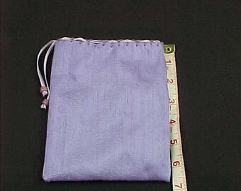"Silk Tarot Bag, Gift Bag,  Lavender, 6.5""X5"", Cotton Lining, Sturdy Drawstring Pouch, Ready To Ship, Treasure Bag, Medicine Pouch."