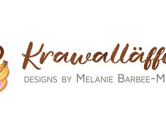 Logo Design  Custom logo design Watercolor Logo Business Logo cute illustration branding