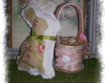 Easter Spring Bunny Pillow  Pink