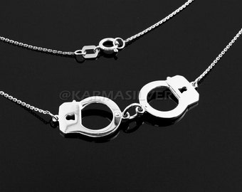 Sterling Silver Handcuffs Necklaces