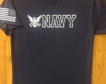 US Navy - Shirt - Large - Navy/White - Free Shipping