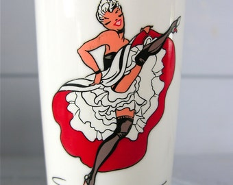 French Vintage Opaline Orwal French Tumbler French Cancan Collectibles