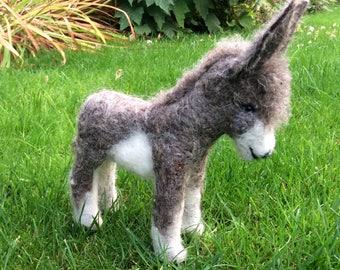 Needlefelted donkey