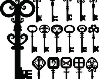 Old Keys~  11717742 ~ Ceramic Decal - Glass Decal ~LEAD FREE & Food Safe ~ Enamel Decal ~ Waterslide Decal