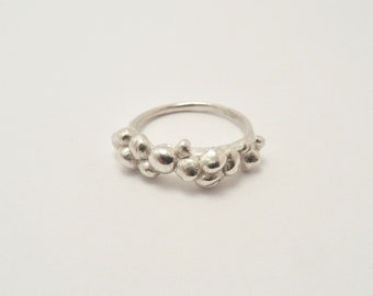 Sterling Silver Pebble Ring, Stackable Ring, Sterling Silver Stackable Ring, Pebble Ring