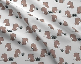 Woodland Baby Bears Fabric - Baby Bears By Littlearrowdesign - Woodland Nursery Decor Cotton Fabric By The Yard With Spoonflower