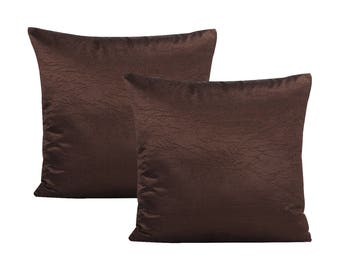 Chocolate Brown Pillow Covers, Set of 2 Pillow Covers
