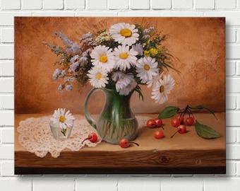 Still life Oil Painting, Original Painting,Canvas Art, Home Decor, Wall Art, Handmade Oil Painting