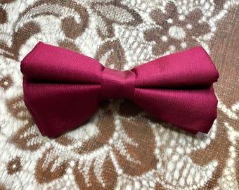 50s Bow Tie, Burgandy, Red, Royal Rust Resistant, 1950s, Mens Vintage, Bowtie, Clip On, Mens Vintage Accessories