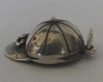 SALE Vintage Sterling Silver Baseball Cap Charm