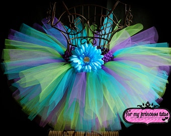 Electric Tutu Skirt -newborn tutu, infant tutu, baby tutu, toddler tutu, pageant tutu, flower girl tutu, 1st birthday tutu, baby shower tutu