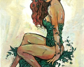 Poison Ivy Pinup Girl limited Giclee Print - I've Known the Garden
