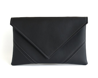 Black Clutch Purse Mothers Day Gift For Mom Clutch Bag Evening Bag Vegan Leather Clutch Vegan Bag Evening Clutch Vegan Purse Black Handbag