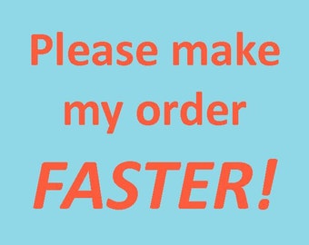 Make my item FASTER, please  :)
