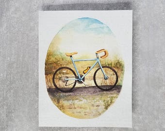 Bicycle Art Print - Art Print on Handmade Paper - Bike Lover - Bicyclist Print - Bike Print