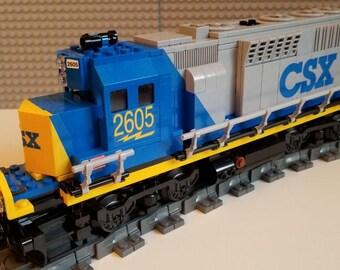 Custom Lego csx gp40 Train Instructions NO BRICKS INCLUDED