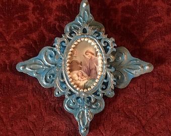 Cross SALE guardian angel crosses handmade found object angel cross