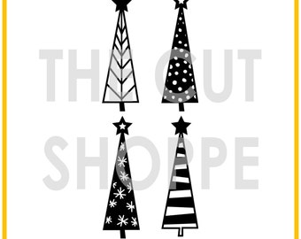 The Tree Farm cut file includes 4 Christmas tree images, that can be used for your scrapbooking and papercrafting projects.