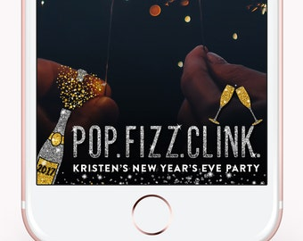 New Years Eve Snapchat Filter, New Years Eve Decorations New Year 2018, New Years Eve Geofilter, NYE Wedding, New Years Eve Party Geofilter
