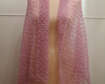 Pink Lace Scarf Stole