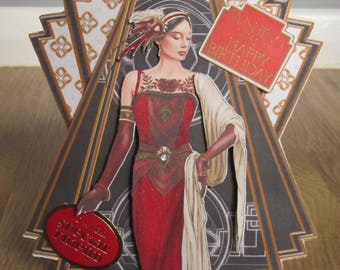 Handmade Art Deco Shaped card