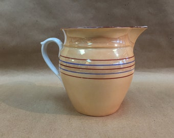 C.1940's Czechoslovakia Lusterware 8oz Pitcher