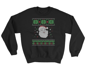 Santa Claus Ugly Christmas Sweater Style Sweatshirt