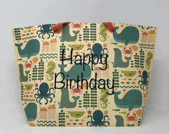 Personalized Birthday Gift Bag | Child's Gift Bag | Custom Gift Bag For Child | Custom Gift Bag | Birthday Gift Bag | Personalized Gift Bag