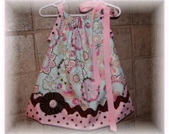 Girls Pillowcase Dress Infant toddler Custom..Pasion Blossoms...sizes 0-6, 6-12, 12-18, 18-24 months, 2T, 3T..Bigger sizes AVAILABLE