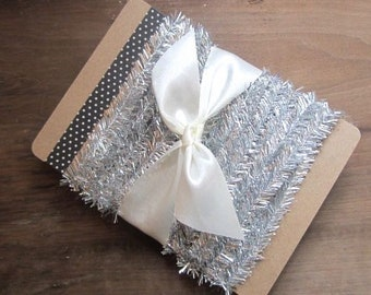 5 Yards Silver Wired Mini Tinsel Silver Miniature Silver Tinsel Trim Vintage Style Tinsel Trim 5 Yards