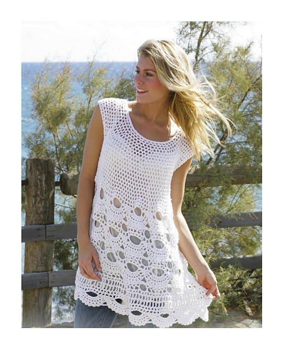 Plus Dress Women's White Cover White Crochet Up Dress White Sized Up Handmade Tunic Summer Dress White Cover Dress Soft xUvwv