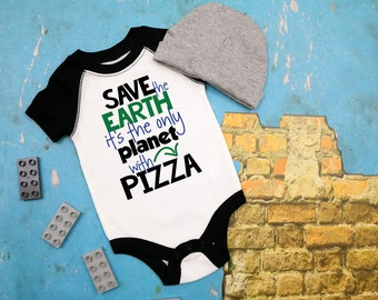 Save The Earth, It's the Only Planet with Pizza Infant Bodysuit