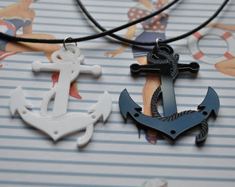 Rockabilly/Nautical Anchor Necklace // Nautical Necklace // Anchor Necklace //  Rockabilly Necklace