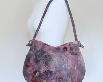 Handmade felted bag