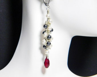 "Night Circus Inspired Crystal Earrings Beadweaving Sterling Silver -  ""Le Cirque des Rêves"""