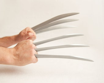 Screen Accurate TW, DOFP, Logan, X-24 Wolverine Claws - Brushed Metallic Powder Cast - Comfortable and Easy to Assemble!