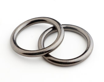 25mm Metal O-ring, Non-welded - Black (Qty 25)