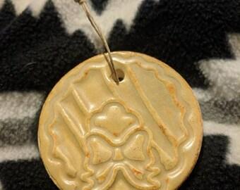 Wreath Ceramic Ornament