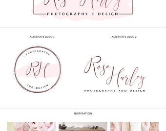 Rose gold logo design, Simple elegant logo, Event planner logo design, Handwritten logo modern, Calligraphy logo branding kit, Luxury logo