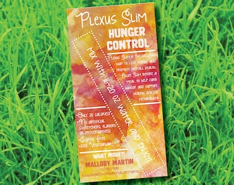 Printable Plexus Worldwide Slim Hunger Control Sample Cards Digital File Only
