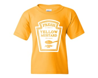 Mustard Costume Funny Halloween Humor Set Youth T-Shirt DT1937