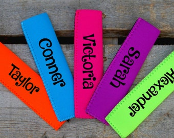 Personalized Freezie holder - Loot Bag Gifts - Popsicle Holder - Freezie holder - loot bag -  Popsicle Holder - Popsicle Sleeve -