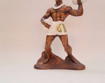 Vintage Ceramic Hawaiian Dancer Souvenir Figurine by Treasure Craft of Hawaii