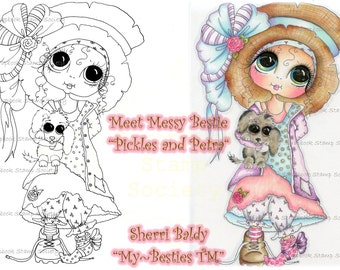 INSTANT DOWNLOAD Digital Digi Stamps Big Eye Big Head Dolls Messy Bessy My Besties Digi IMG682 By Sherri Baldy