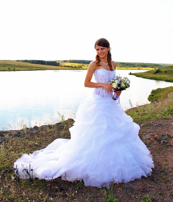 Wedding a Lace Fluffy Gown Free Romantic Wedding train with dress corset Wedding Bridal wedding Ball dress Dress shipping Dress zqxYdvwnO