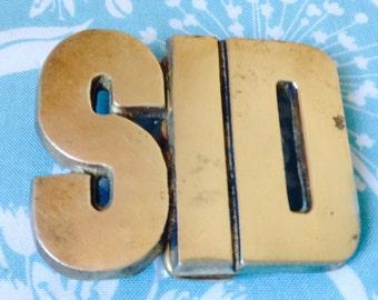 Sid belt buckle, solid brass belt buckle, retro belt buckle, vintage belt buckle, Sid collectible, name of Sid, men's gift idea